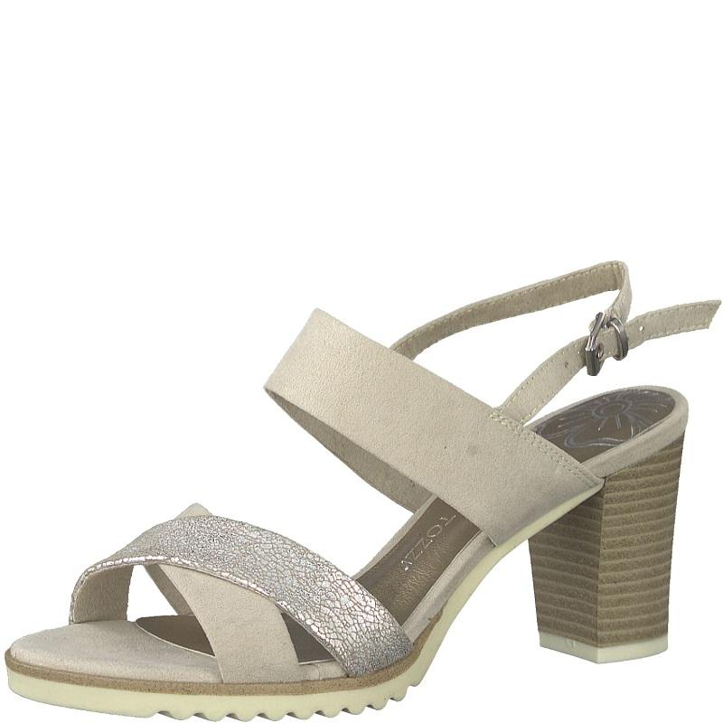 d8d1130b8d20 Dámské sandály Marco Tozzi 2-28700-22 Béžová