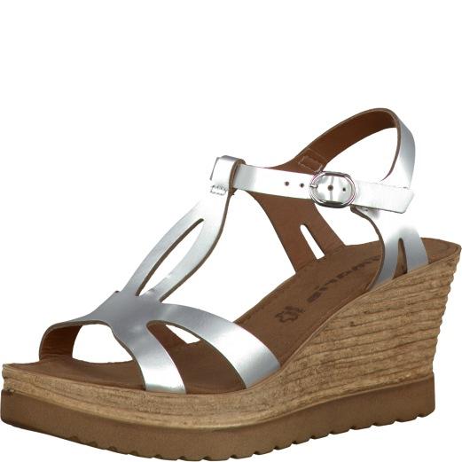 20a574b7565 Dámské sandále Tamaris 1-28068-36 Stříbrná empty