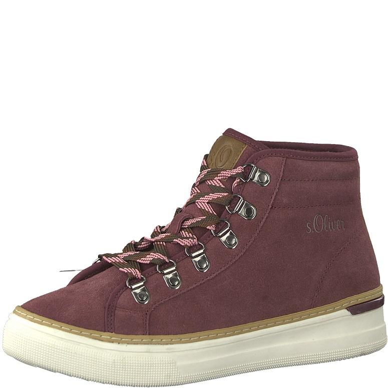 Dámské kotníkové boty s.Oliver 5-26207-29 Bordó empty 6f11cd701a
